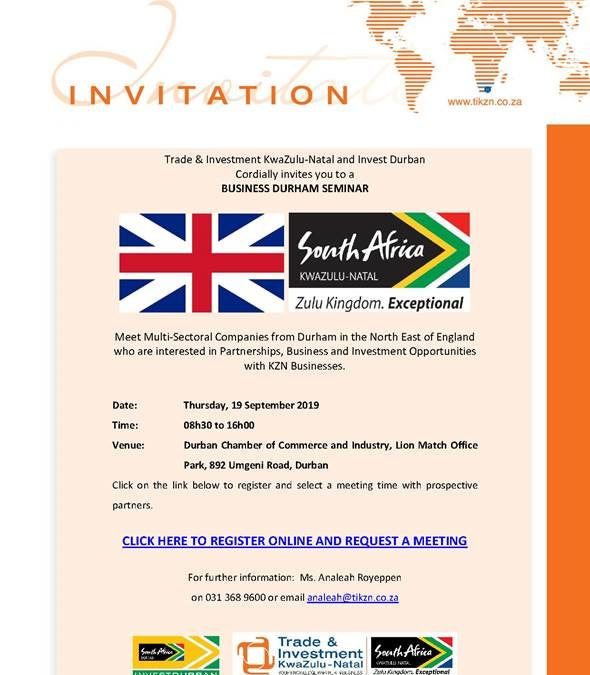 Invitation to the Durham UK Business Seminar