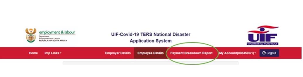 TERS Payment Breakdown Report