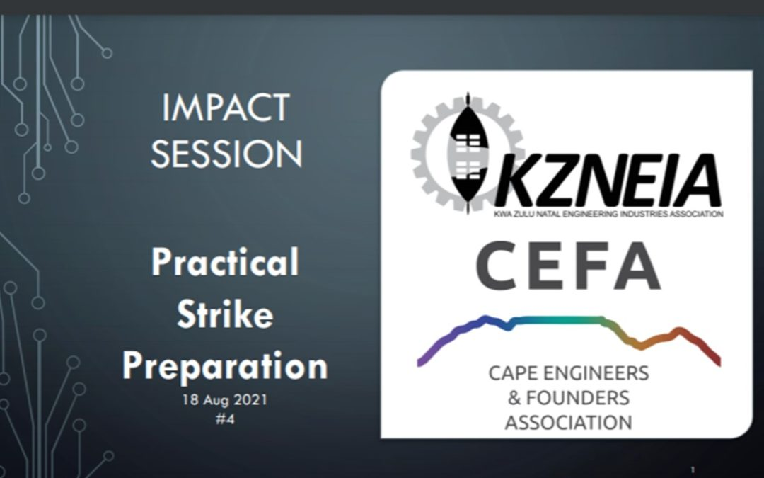 IMPACT SESSION: Practical Strike Preparation 4 – overview